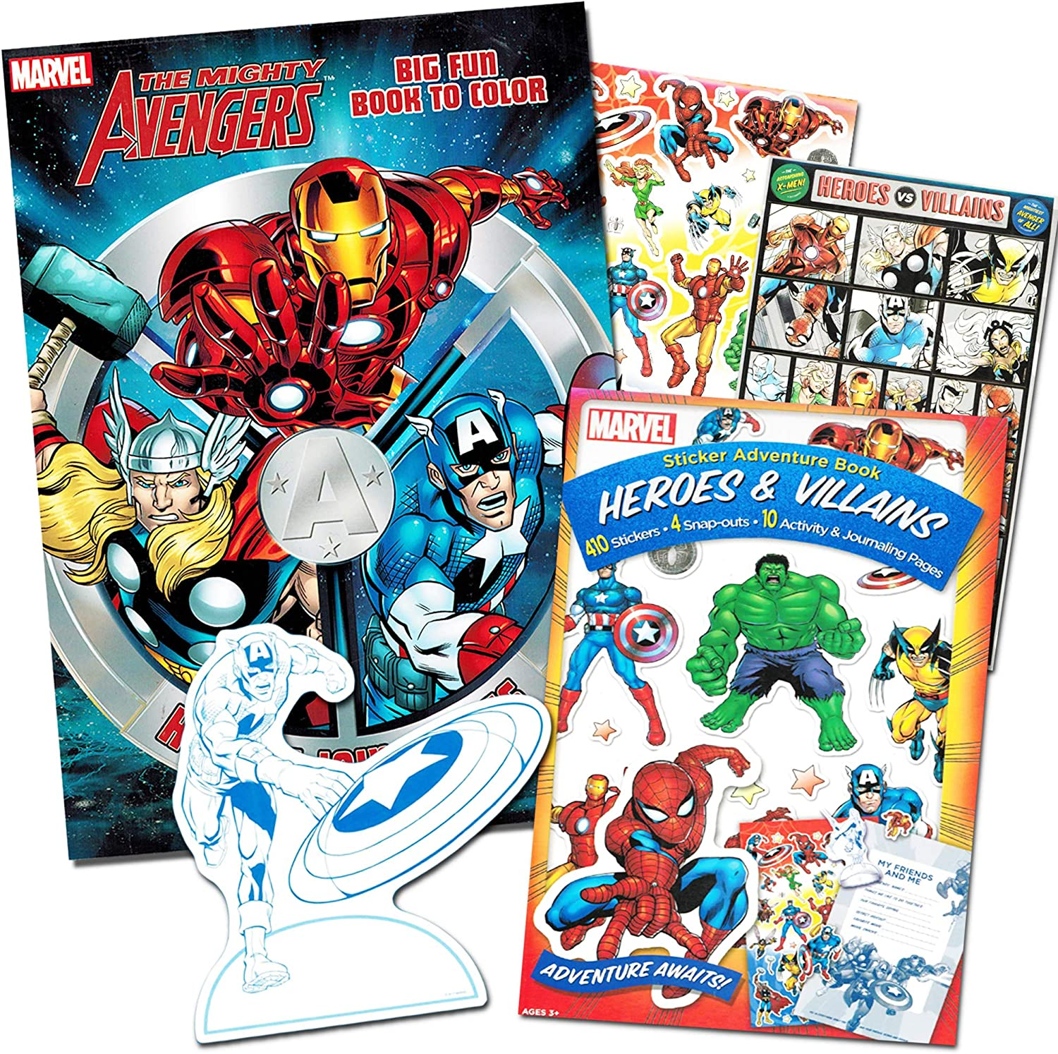 Marvel Avengers Coloring Book And Stickers Captain America Thor The Hulk Iron Man And More Paper Craft Amazon Canada