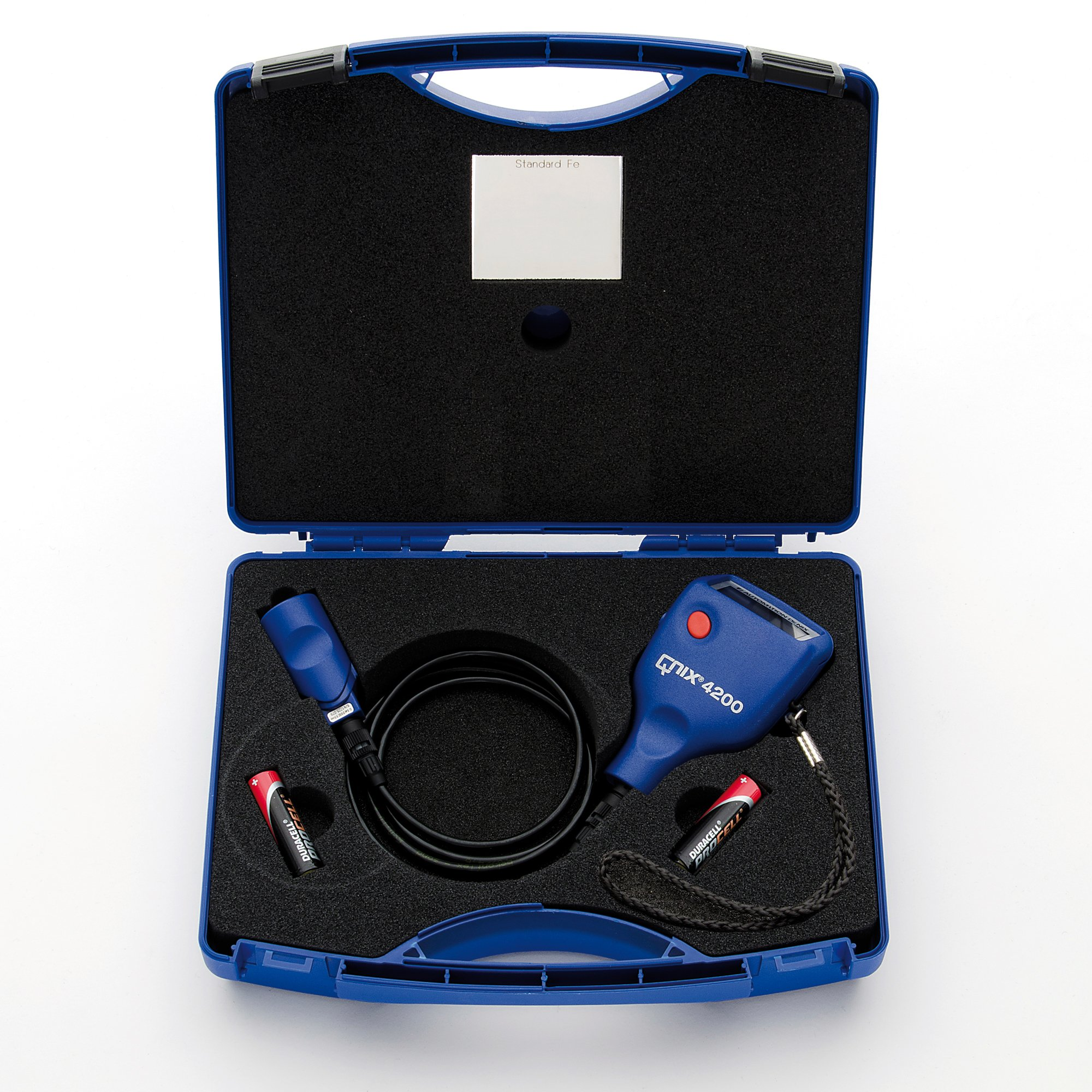 QNix 4200 Coating Thickness Gauge - Paint Meter w/ Integrated Fe 200 mil Cable Probe by Automation Dr. Nix