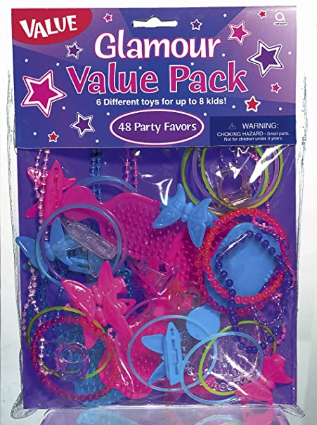 Amscan International Favour Value Pack Glamour, Pack of 48