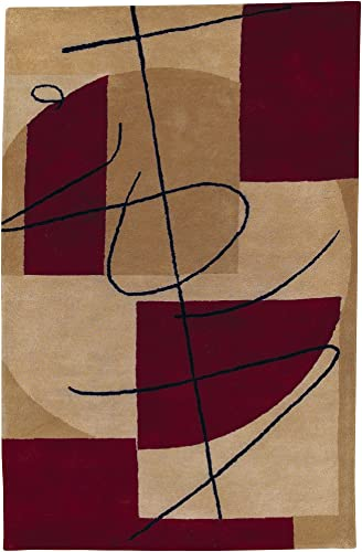 Surya Naya HST-3005 Contemporary Hand Tufted 100 New Zealand Wool Frappe 2 x 3 Abstract Accent Rug