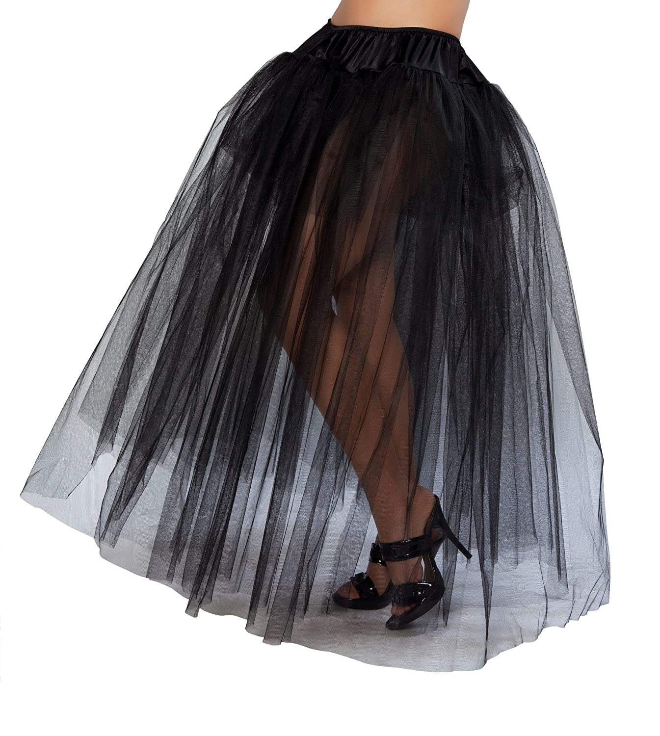 amazoncom roma costume full length petticoat costume black one size clothing - Halloween Petticoat