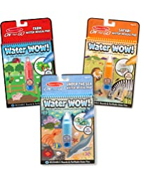 Melissa & Doug Water Wow! Reusable Color with Water Activity Pad 3-Pack,