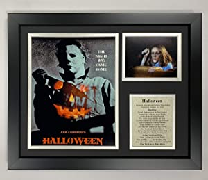 "Legends Never Die Michael Myers Halloween Classic Horror Movie Collectible | Framed Photo Collage Wall Art Decor - 12""x15"""
