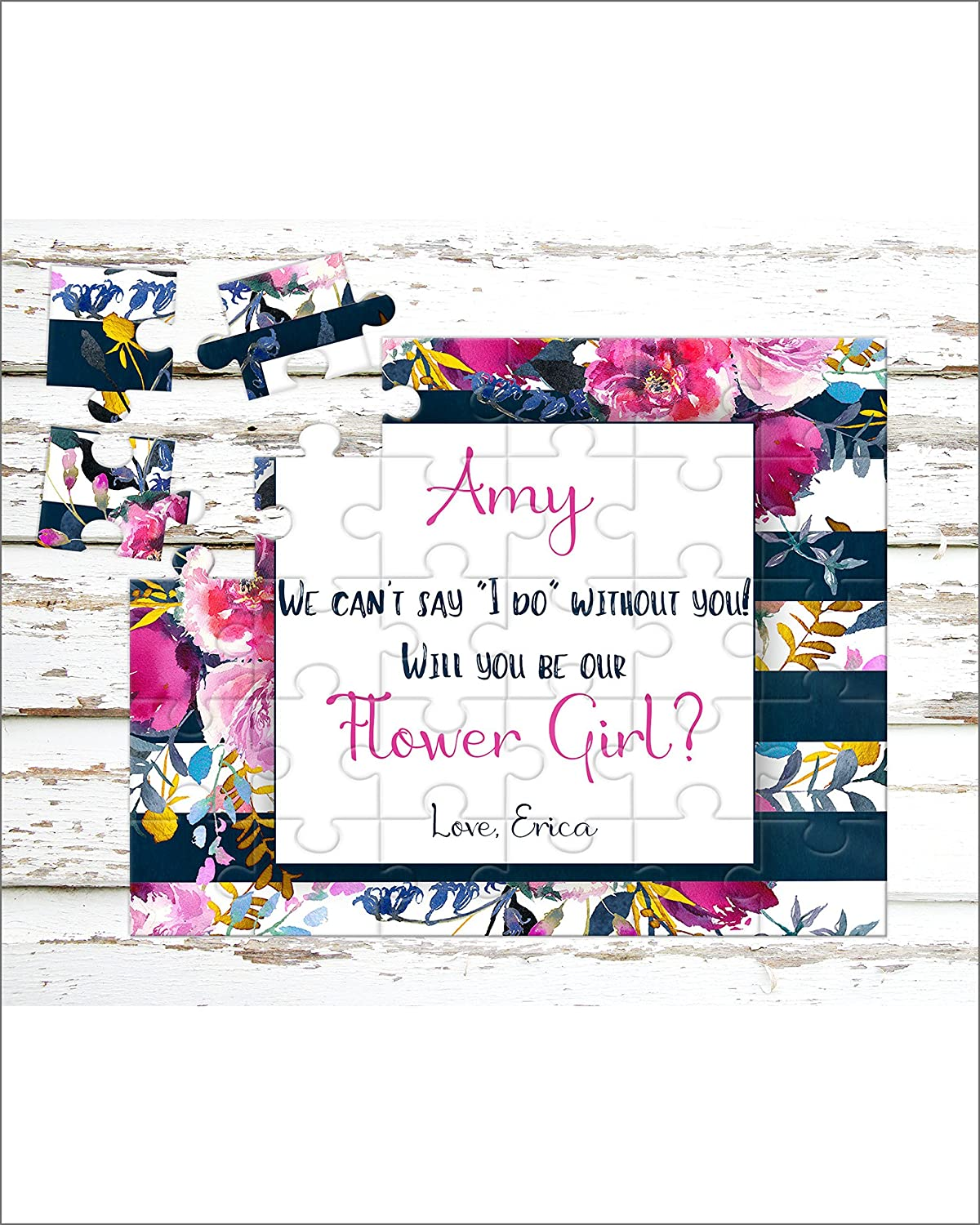 Personalized Flower Girl Puzzle - Puzzle Proposal - Asking Flower Girl - Wedding Announcement - P0110