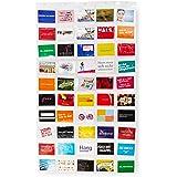 Lumaland Fotovorhang Collage für Bilder und Fotos, Querformat mit 50 Taschen, für 10 x 15 cm Fotos