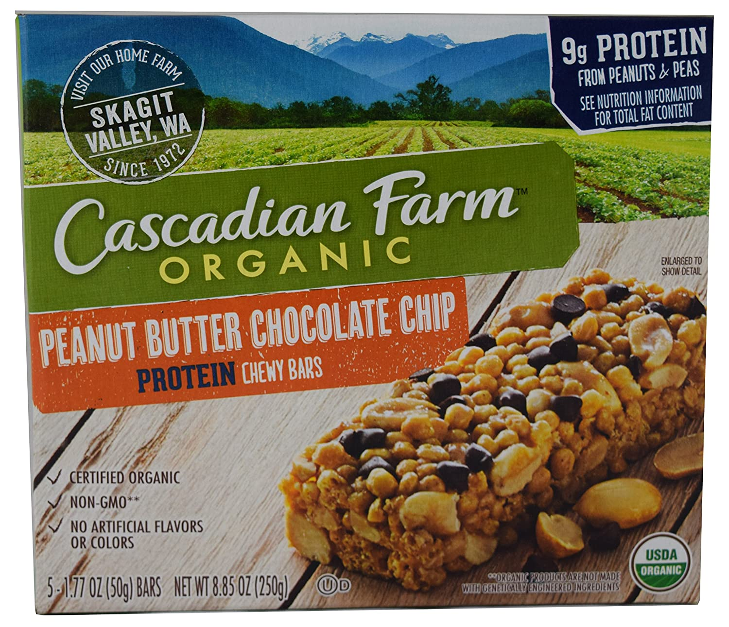Cascadian Farm Organic Peanut Butter Chocolate Chip Protein 8 85 Oz