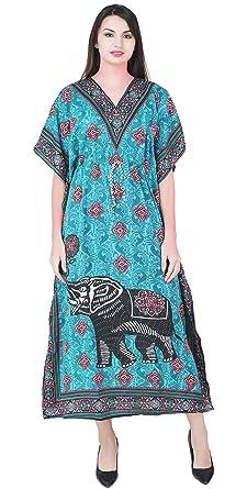 SKAVIJ Indien Femme Caftan Abaya Longue Couverture Soiree Robe Kimono  Boheme Tunique Cocktail Imprimé Fleuri Ethnique f7be7e9e9b3