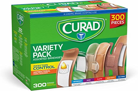 Curad Assorted Bandages Variety Pack (300 pieces)