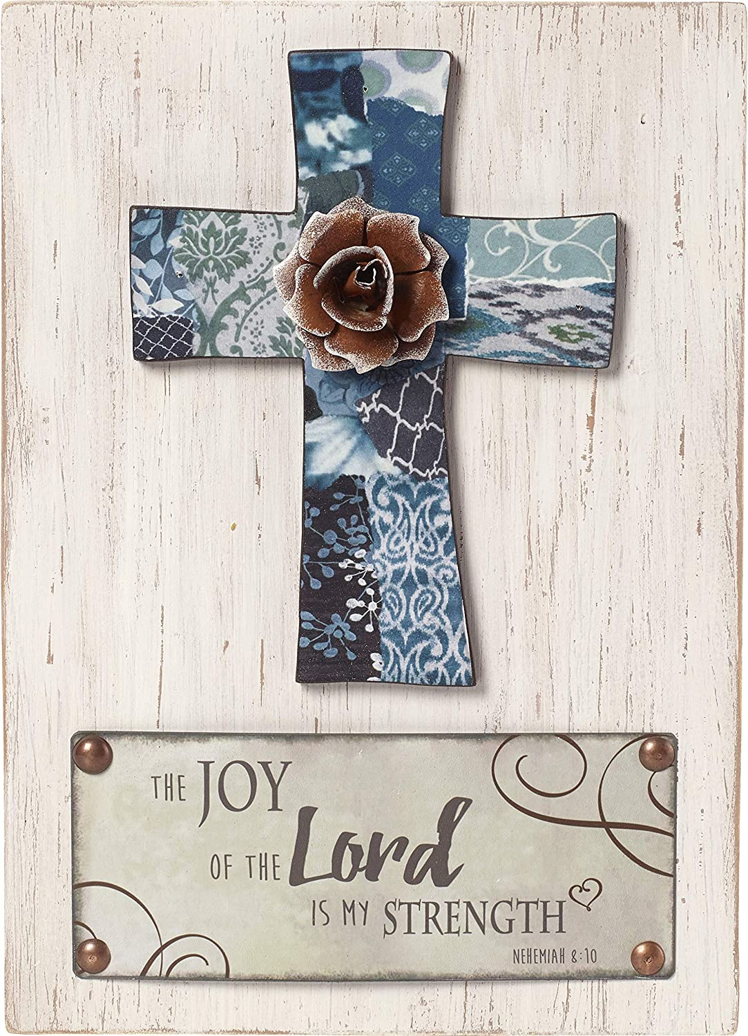 Precious Moments Farmhouse Decor The Joy Of The Lord Is My Strength Wood/Metal Wall Plaque 189913