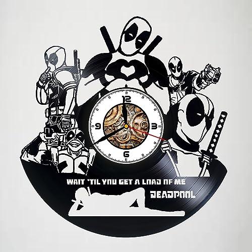 Amazon Com Deadpool Film Handmade Vinyl Wall Clock Original
