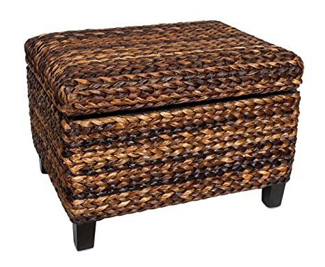 Astonishing Birdrock Home Woven Seagrass Storage Ottoman With Safety Hinges Lamtechconsult Wood Chair Design Ideas Lamtechconsultcom