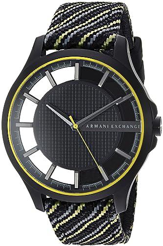 069c4c91b7aa Armani Exchange Reloj Analogico para Hombre de Cuarzo con Correa en Nailon  AX2402  Amazon.es  Relojes