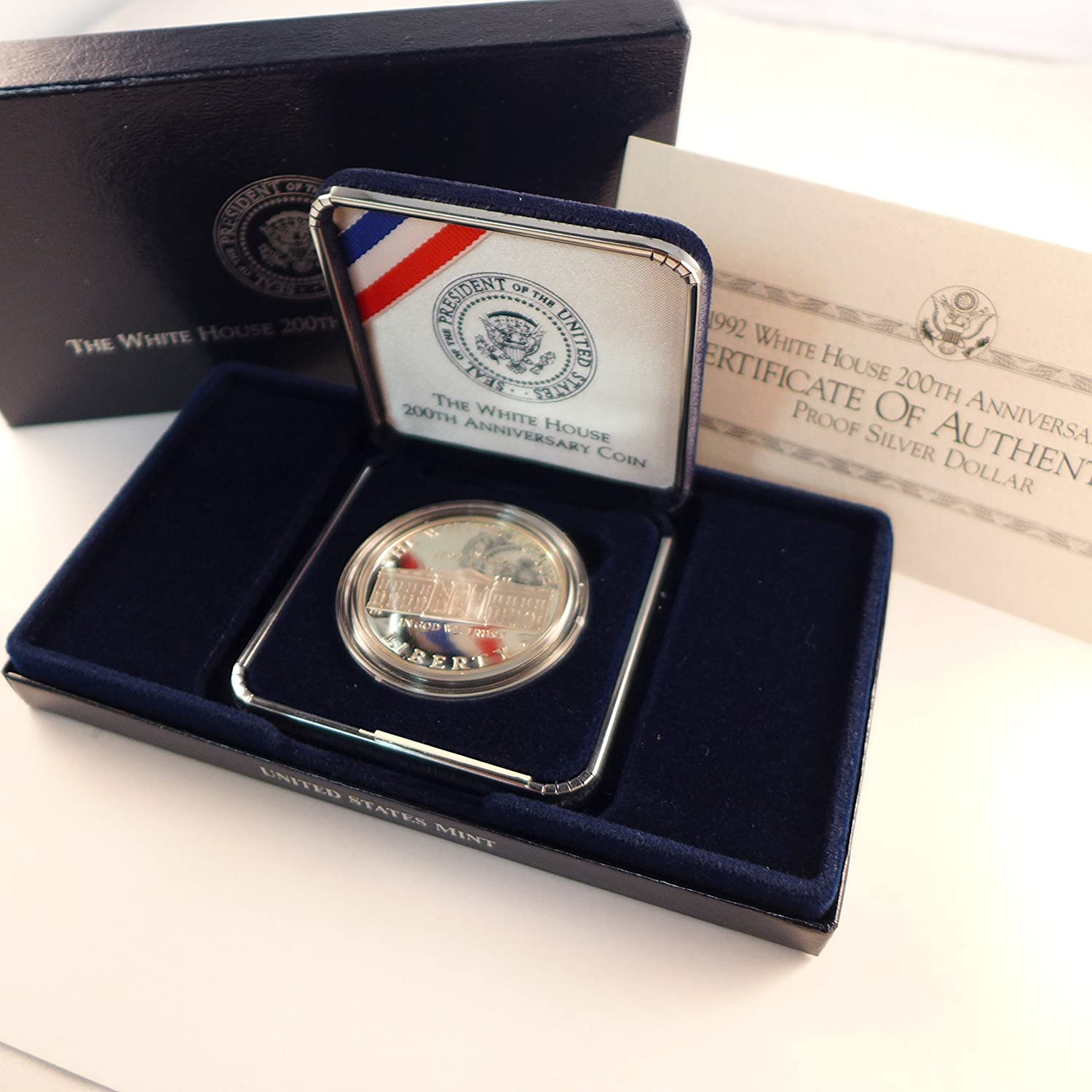 1992 S White House Commemorative Silver Dollar $1 Proof US Mint