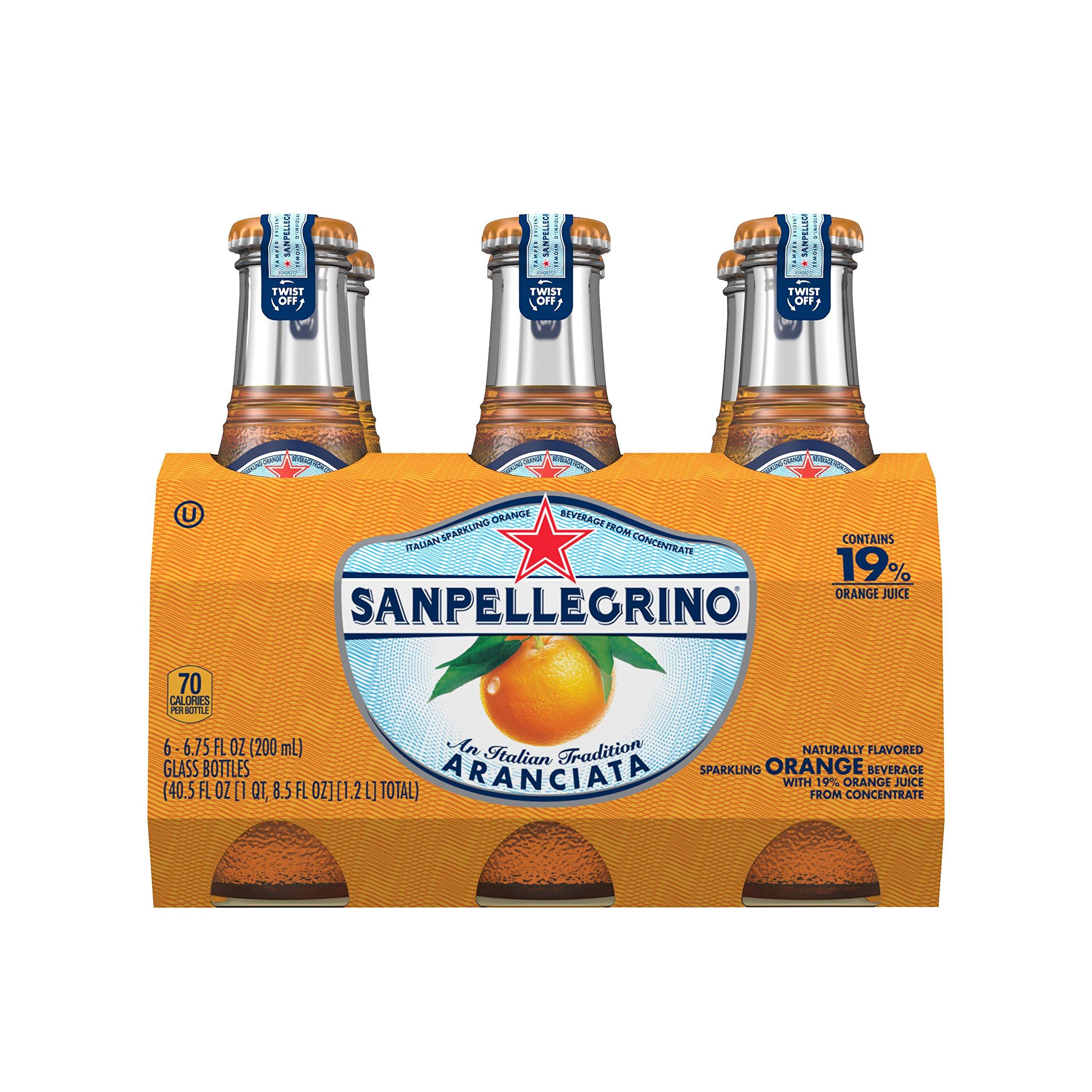 Sanpellegrino Orange Sparkling Fruit Beverage, 6.75 fl oz. Glass Bottles (6 Count)