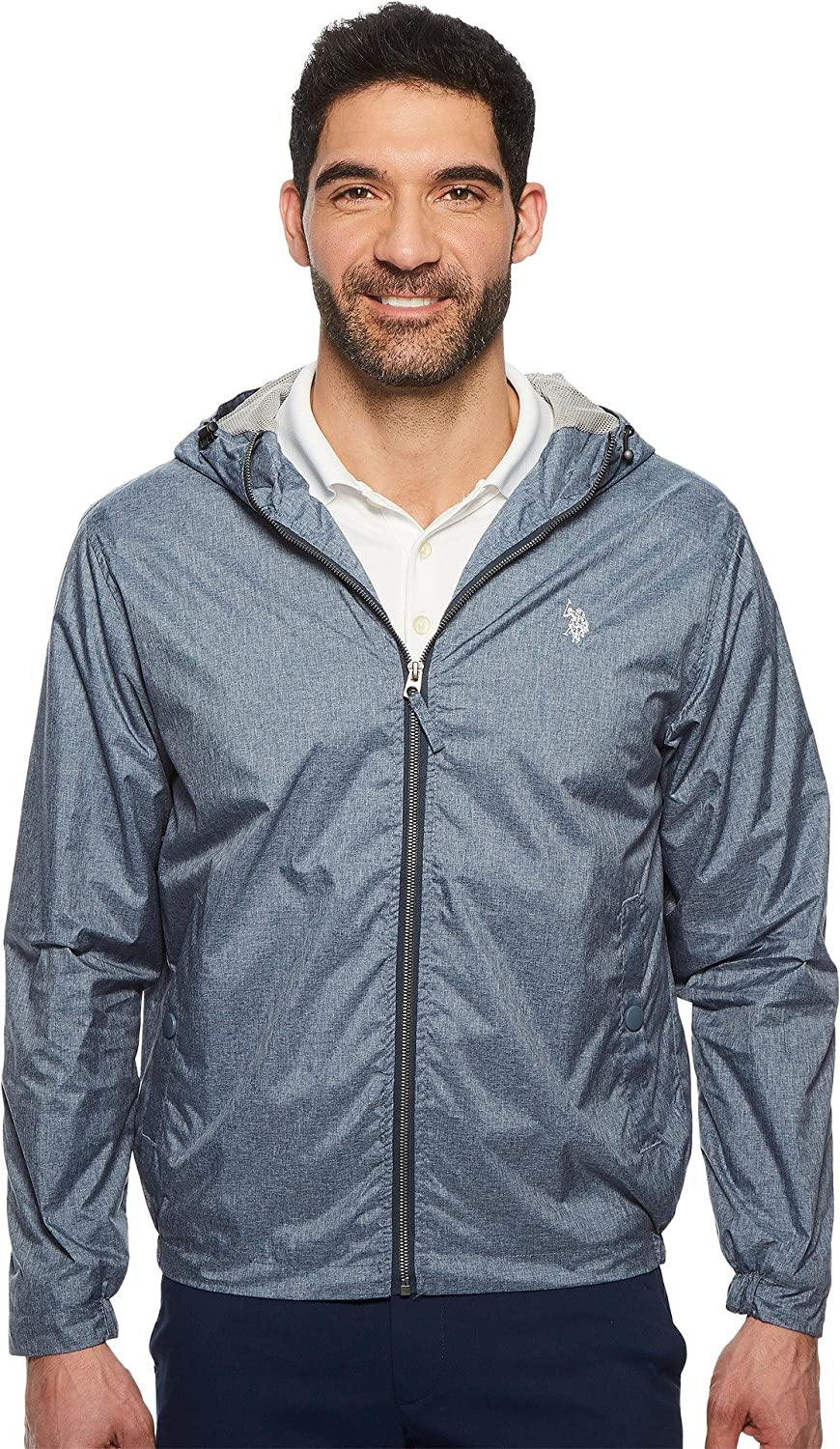 U.S. Polo Assn. OUTERWEAR メンズ B07795Y7CP X-Large|Classic Navy Heather-lmhh Classic Navy Heather-lmhh X-Large