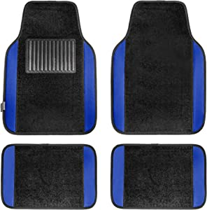 FH Group F14407BLUE Premium Full Set Carpet Floor Mat (Sedan and SUV with Driver Heel Pad Blue)