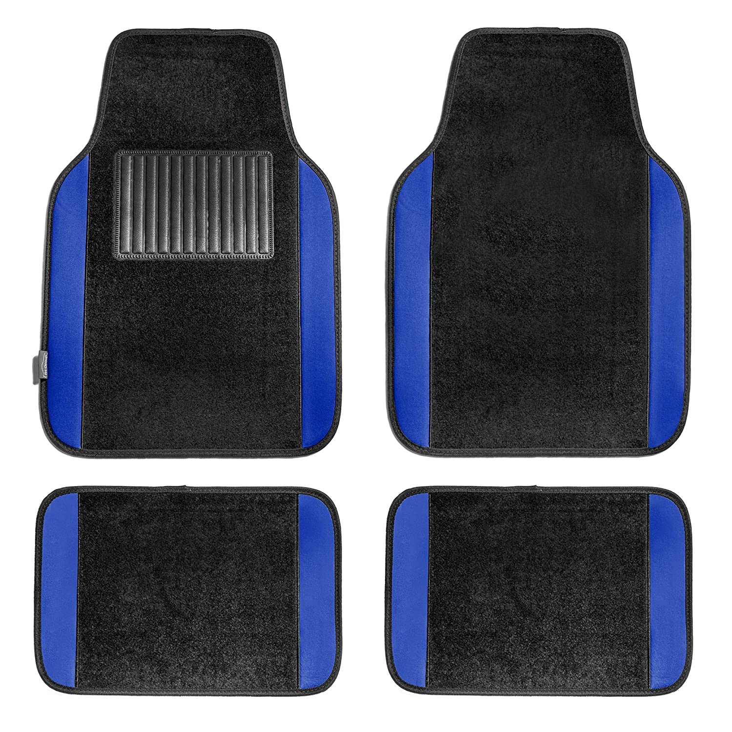 Fit Most Car Truck or Van FH GROUP FH-FB030115 Light /& Breezy Cloth Seat Cover Set Airbag /& Split Ready with Carpet Floor Mats Solid Black Suv