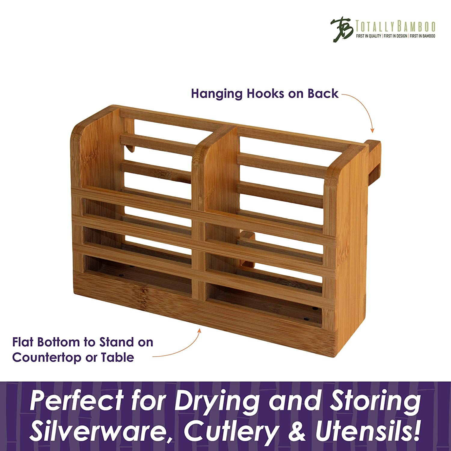 Totally Bamboo Eco Collapsible Bamboo Dish Drying Rack 20-8522