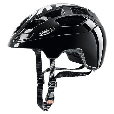 Uvex 414807 Casque de Vélo Mixte Enfant, Noir/Blanc, 51