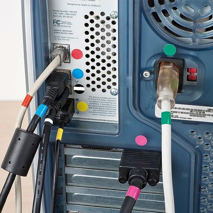 D-Line Cable & Plug ID Kit | Peel & Stick Cable Management Labels ...