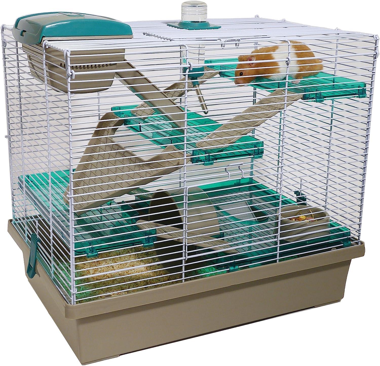 Rosewood Palisandro Pico Hamster Home, Extra Grande, translúcido Verde Azulado