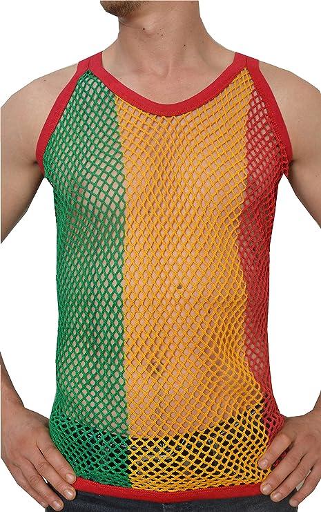 camiseta de rejilla sin mangas camiseta de luchador Camiseta de tirantes para hombre