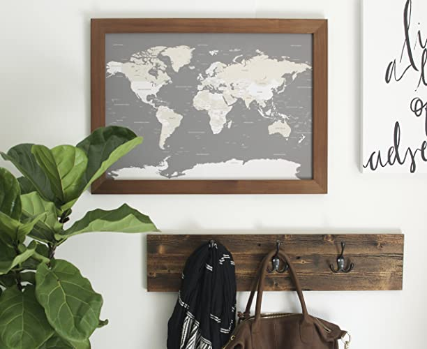 Amazon small classic world map push pin travel map map small classic world map push pin travel map map framed world map in gumiabroncs Image collections