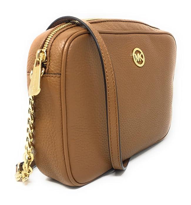 f826a038e3715 Michael Kors Fulton Leather Large East West Cross-body (Acorn)  Handbags   Amazon.com