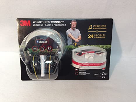 93cfc63e04 Amazon.com  3M worktunes Connect Wireless hearing protector + Safety ...