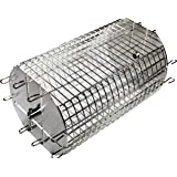 """OneGrill Performer Series Universal Fit Grill Rotisserie Spit Rod Basket; Tumble & Flat Basket In One.(Fits 5/16"""" Square Spits)"""