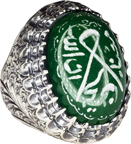 İslamic Ring Scales of Justice Free Express Shipping Falcon Jewelry 925 Sterling Silver Men Ring