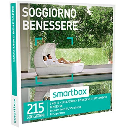 Smartbox - Soggiorno Benessere - 215 Soggiorni Con Benessere In Hotel 4* 5*  e Dimore, Cofanetto Regalo e Benessere