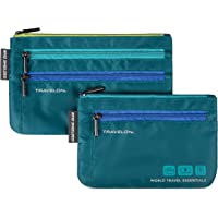 Travelon Travelon World Travel Essentials Set of 2 Currency and Passport Organizers, Peacock Teal (blue) - 43370-383