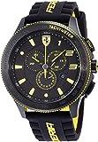 Scuderia Ferrari Mens Quartz Watch, Chronograph Display and Silicone Strap 0830139