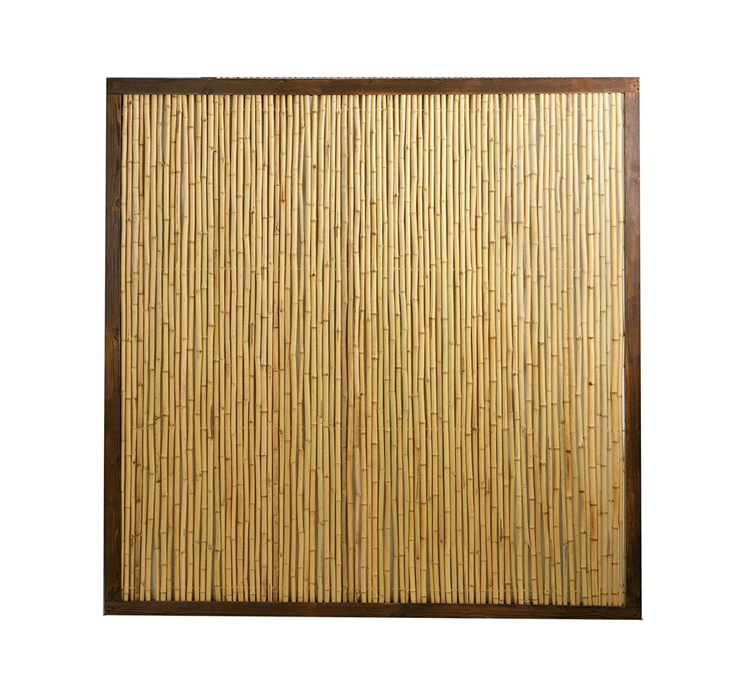 Bamboo Fence Panel with Frame 6ft x 6ft Amazon Garden