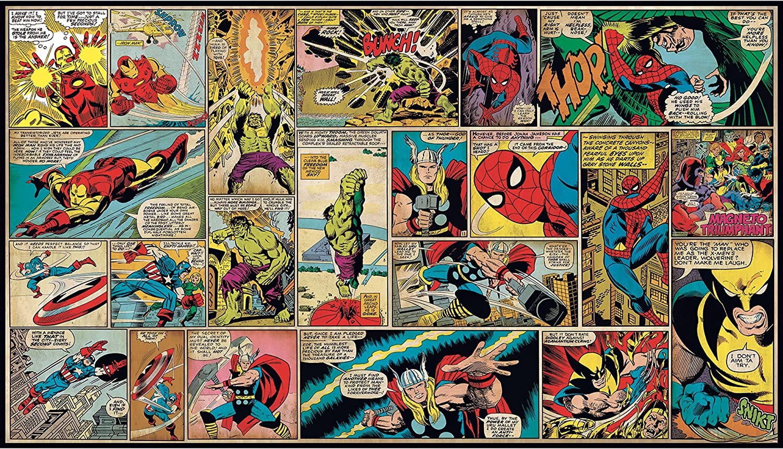 Roommates Marvel Classics Comic Panel Mural 10 5 Feet X 6 Feet