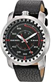 Diesel Men's DZ1750 Rig Stainless Steel Black Leather Watch