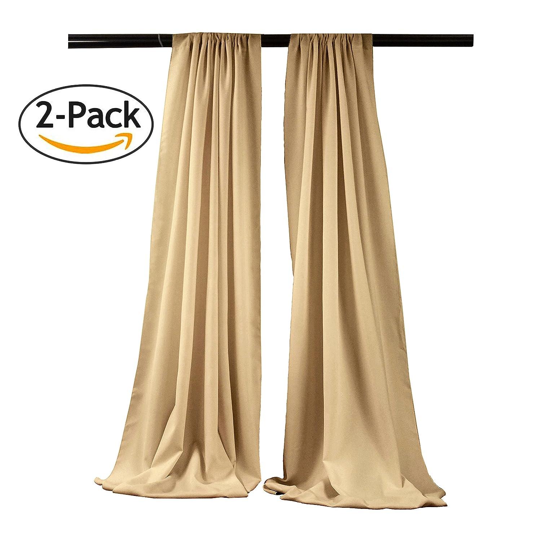 LA Linen Polyester Poplin Backdrop Drape Mint BDpop96x58/_Pk2/_MintP44 96 x 58 2 Pack