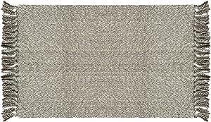 Ukeler Cotton Hand Woven Rug Decorative Reversible Rag Rug Porch/Doorway/Kitchen/Bathroom/Entryway, 23.6''x35.4'', Light Grey
