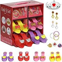fash n kolor Princess Dress Up and Play Shoe and Jewelry Boutique with Fashion Accessories for Girls Dress Up, Age 3-10…