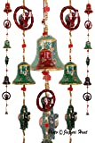 Jaipuri Haat Elephant Mirror Work Door Hanging Metal Tapestry Artificial Beads - Set Of 2