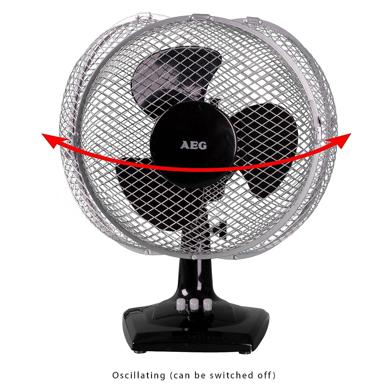 AEG VL 5528 2in1 Tischventilator auch zur Wandmontage geeignet 2 Laufgeschwindigkeiten 23 cm Durchmesser