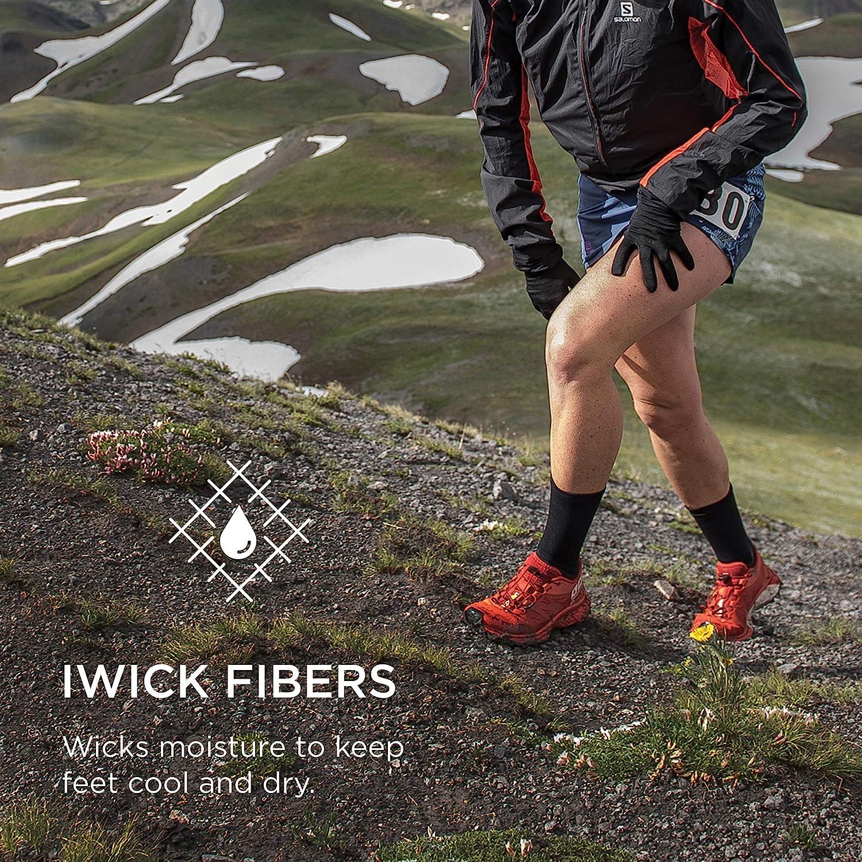 Feetures Merino 10 Ultra Light Laine M/érinos Ultra L/éger Chaussettes de Sport pour Hommes et Femmes Quarter