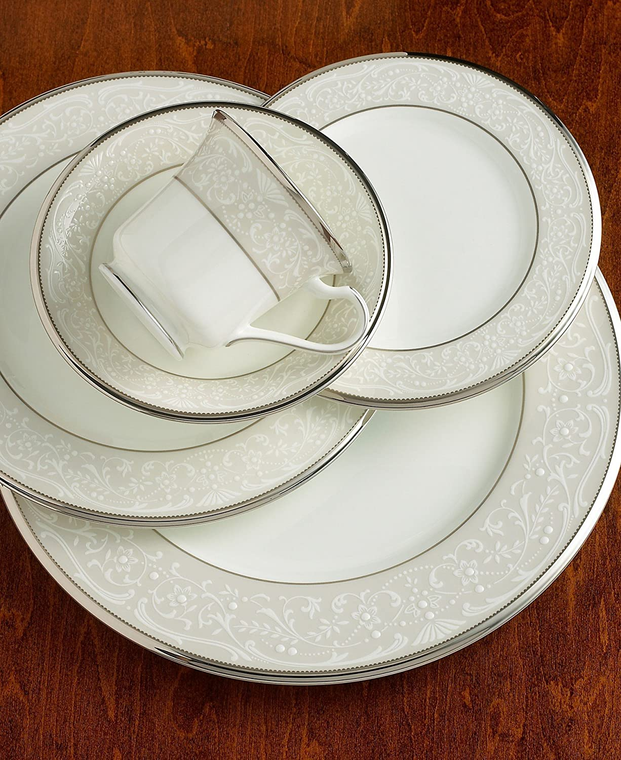 Noritake Silver Palace Fine Bone China 5-Piece Place Setting