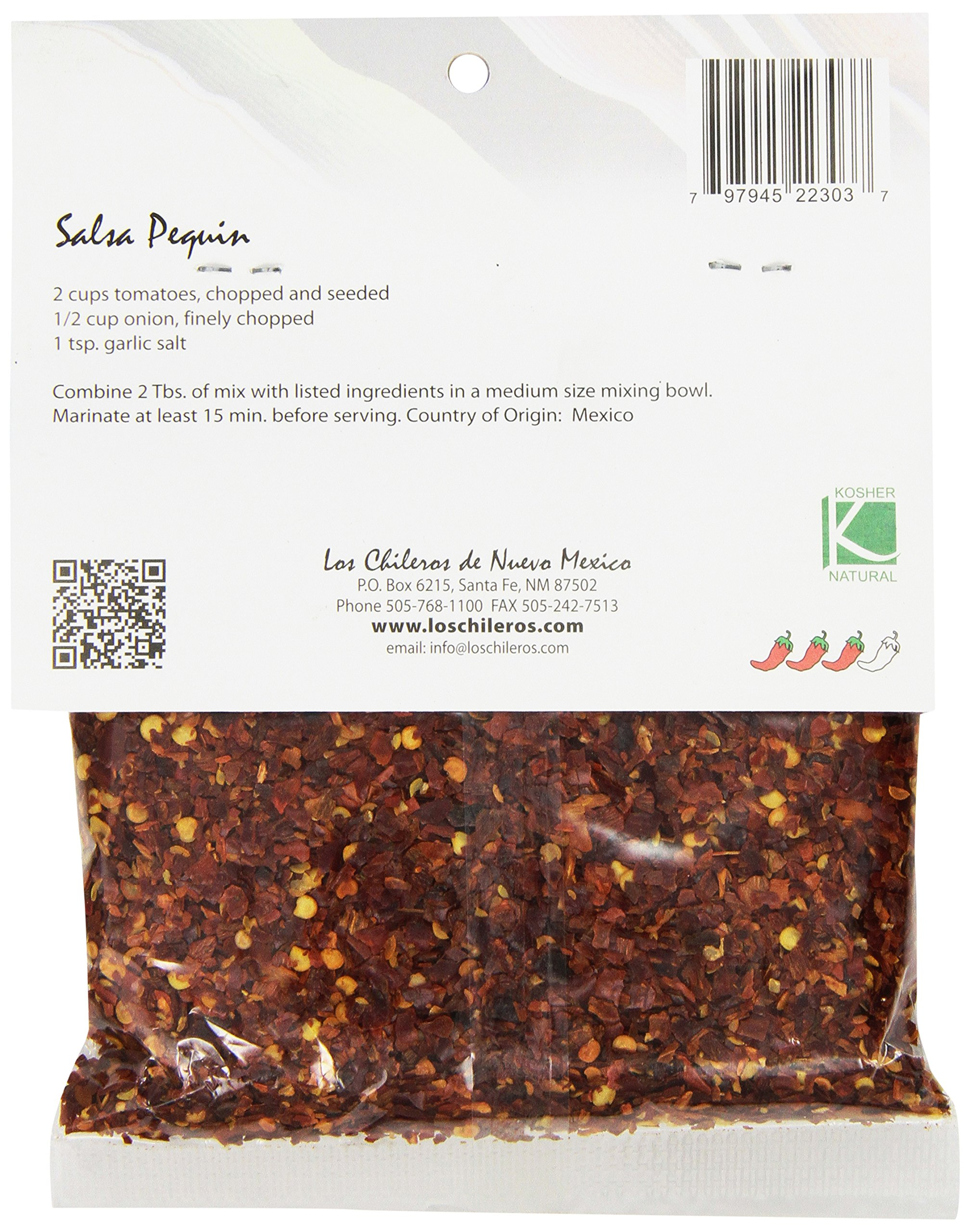 Los Chileros Chile Pequin (Crushed), 3-Ounce Packages (Pack of 12) by Los Chileros (Image #3)