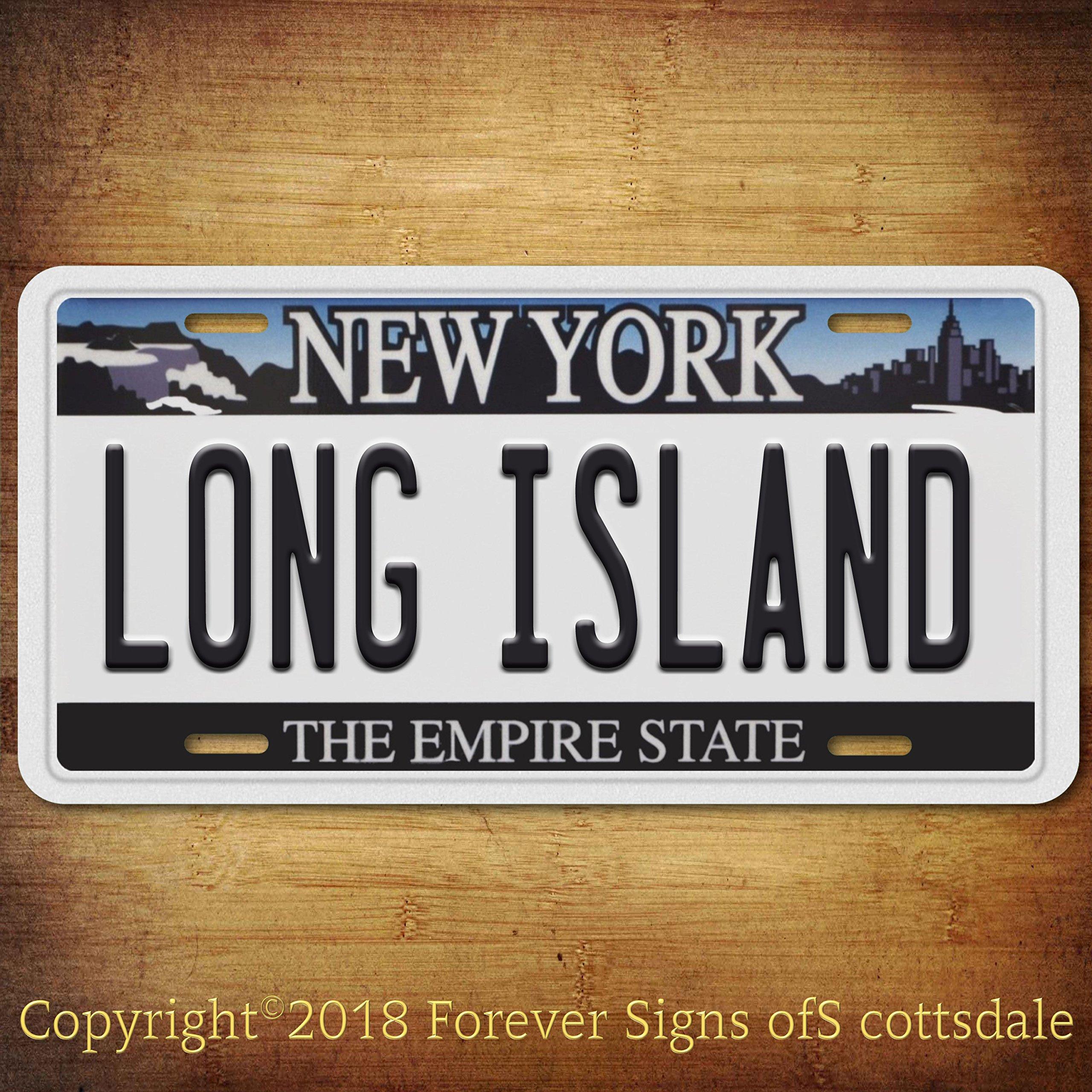 Long Island City/College New York Aluminum Vanity License Plate