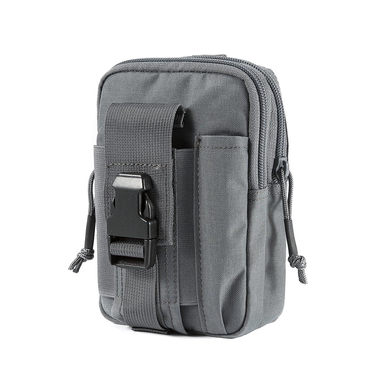 OneTigris Compact MOLLE EDC Pouch Utility Gadget Pouch (Black2)