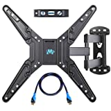 Mounting Dream MD2413-MX Full Motion Articulating Arm Wall Mount Bracket for 26-55 Inches LED/LCD/Plasma Flat Screen TVs with Weight Upto 66 LBS and VESA 400x400mm