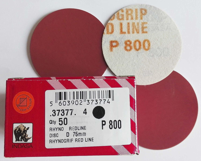 Disco de lija 75mm. grano 800 (caja de 50 unidades) indasa