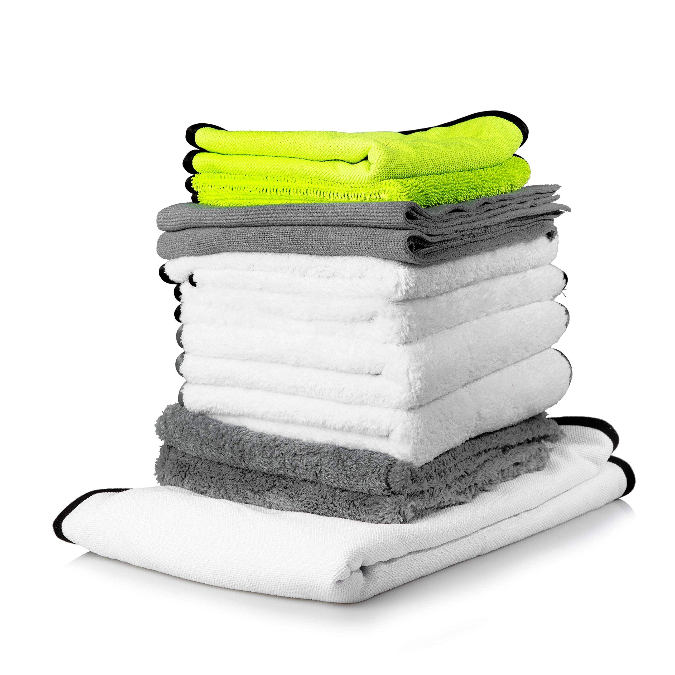 Adam's Microfiber Bundle - Great Kit to Restock on Microfiber - All of Our Bestselling Microfiber Towels (Complete Bundle)